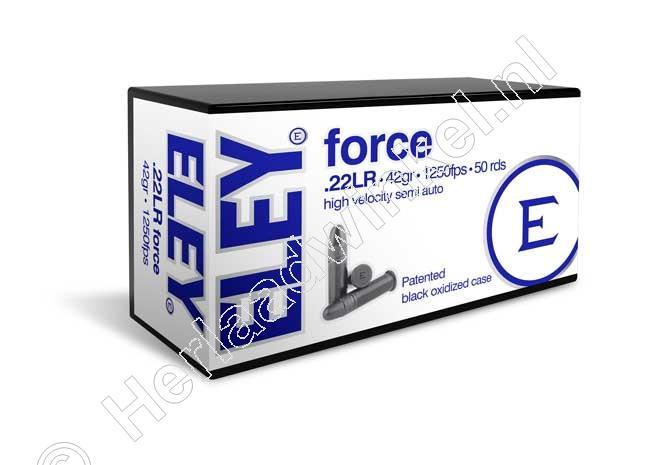 Eley FORCE Munitie 22 Long Rifle 42 grain Lead Round Nose