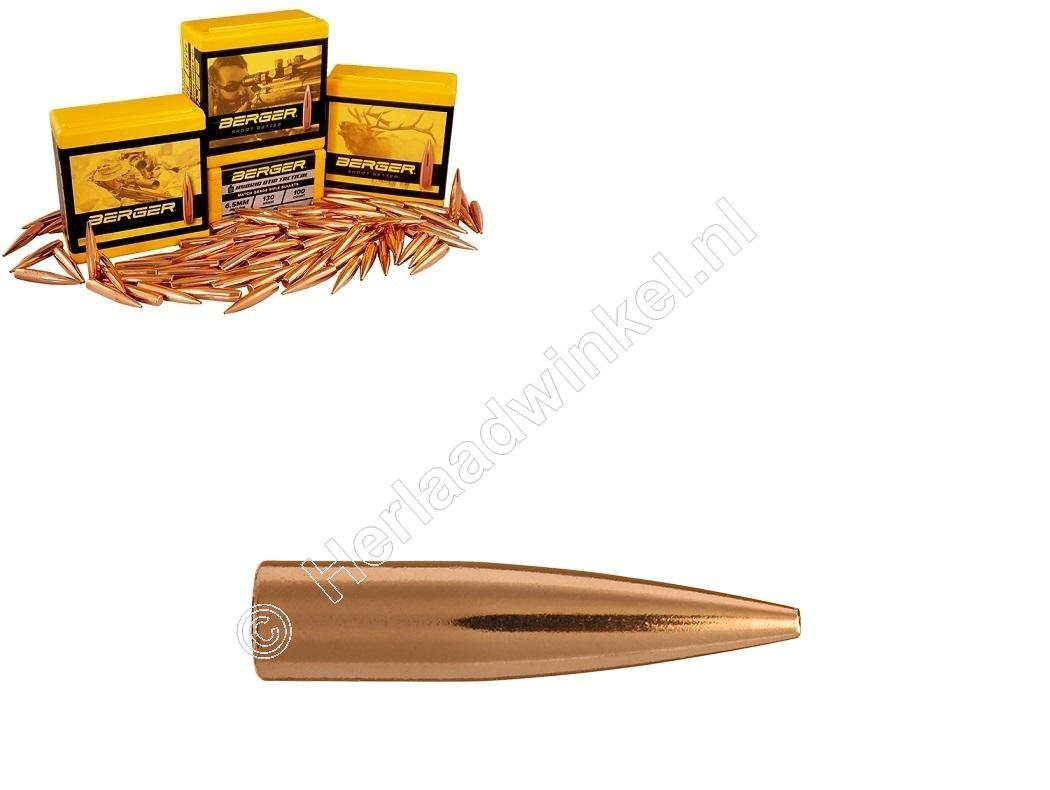 Berger Varmint FB Kogels 6mm 88 grain Hollow Point Flat Base verpakking 100