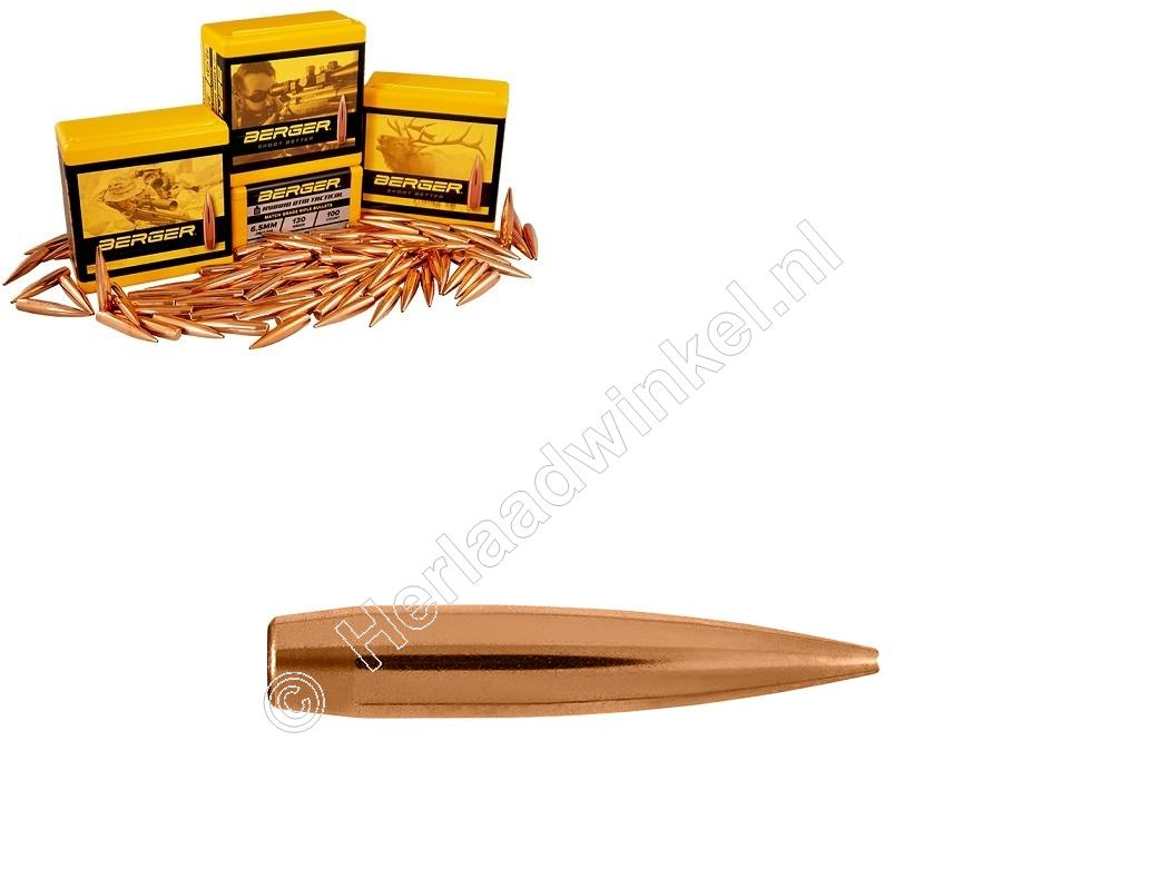 Berger Target Long Range BT Kogels 6.5mm 140 grain Hollow Point Boat Tail verpakking 100