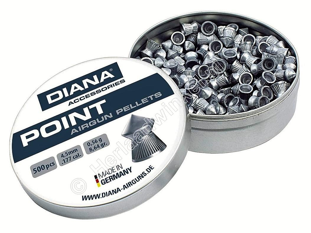 Diana Point 4.50mm Airgun Pellets tin of 500