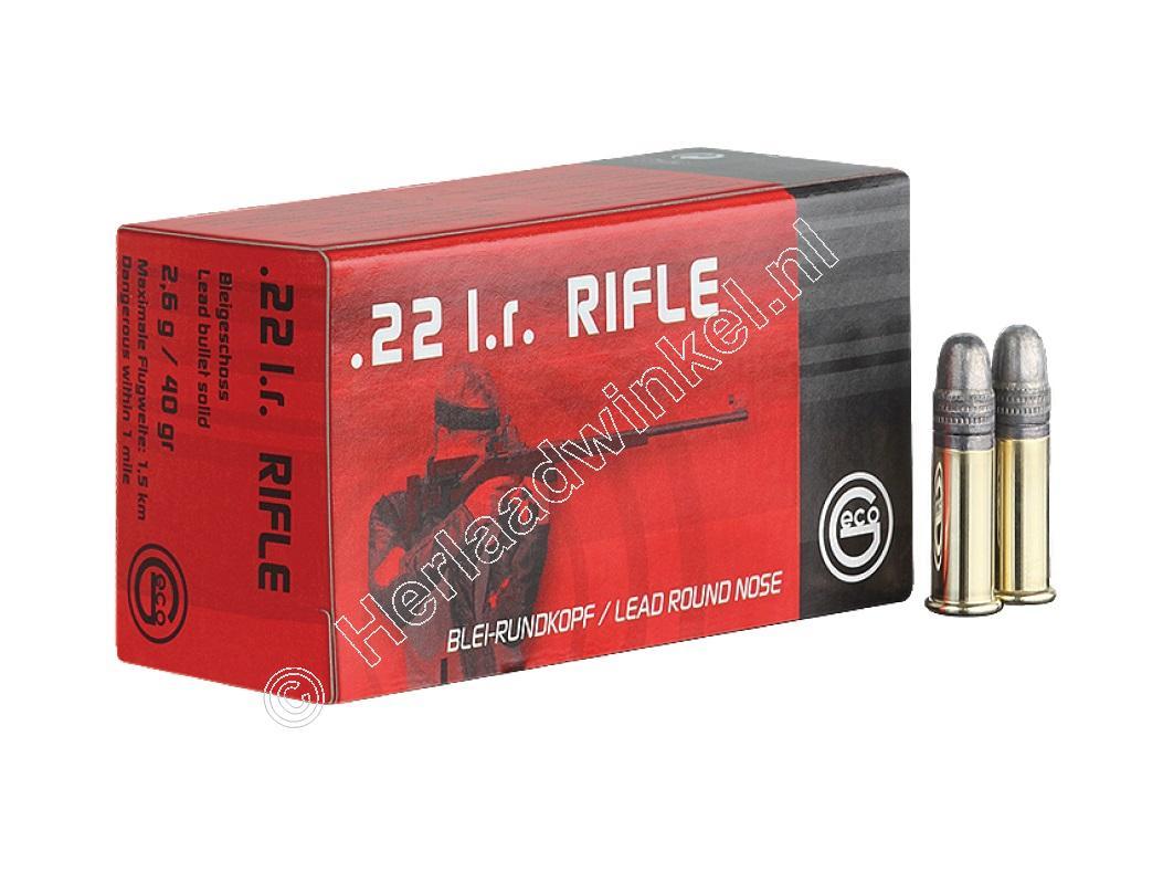 Geco RIFLE Munitie .22 Long Rifle 40 grain Lead Round Nose verpakking 50