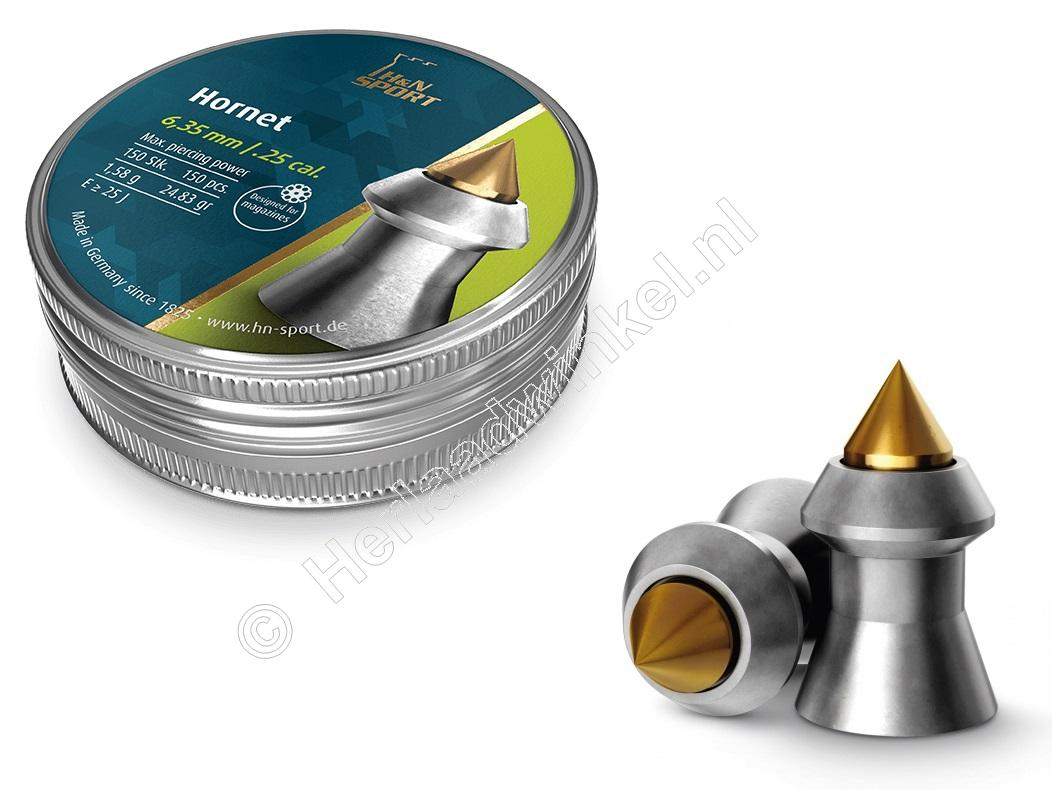H&N Hornet 6.35mm Airgun Pellets tin of 150