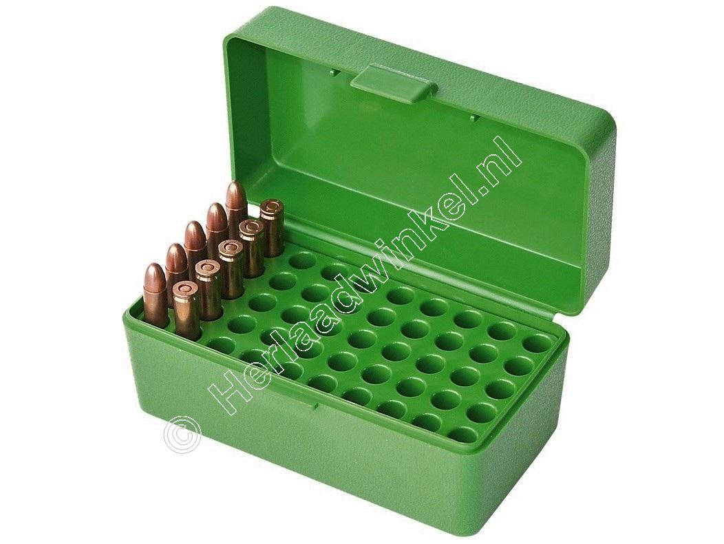 MTM 22HORN Ammo Box CLEAR BLUE content 50