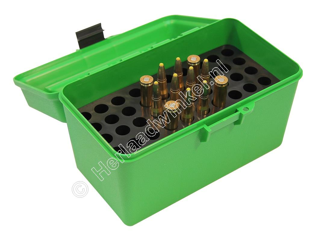 MTM H50RL DELUXE Ammo Box GREEN content 50