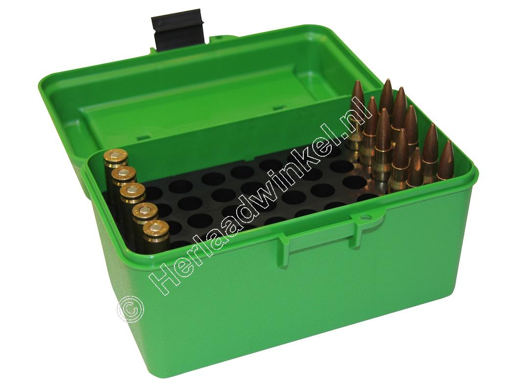 MTM H50RM DELUXE Ammo Box GREEN content 50
