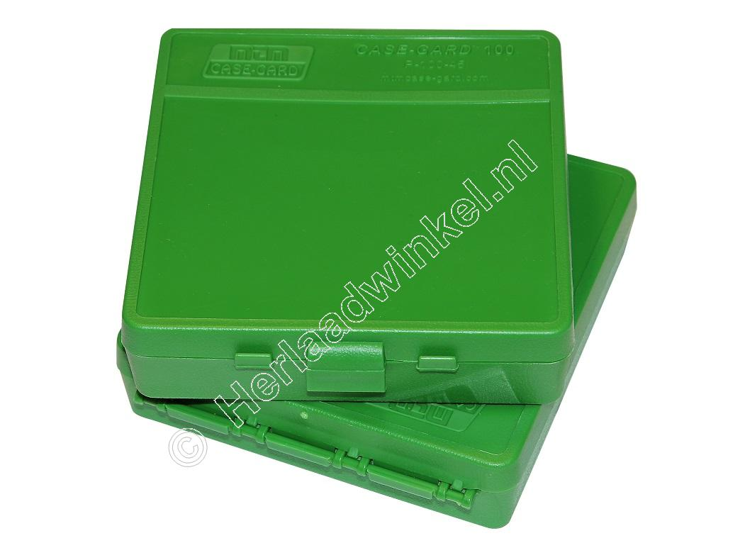 MTM P100-45 Flip-Top Ammo Box GREEN content 100