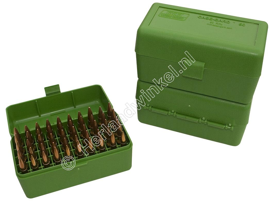 MTM RM50 Ammo Box GREEN content 50