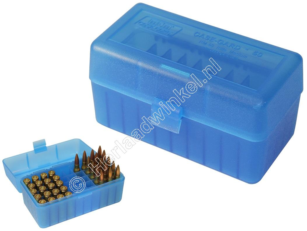 MTM RL50 Ammo Box CLEAR BLUE content 50