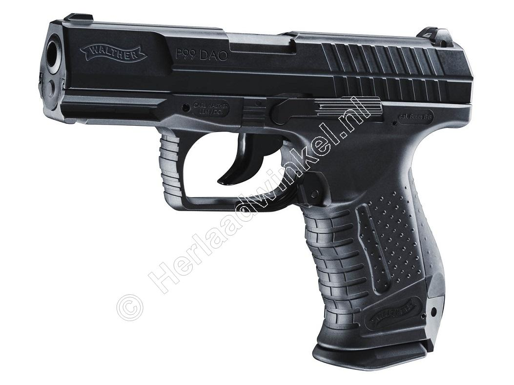 Walther P99 DAO Airsoft Pistool 6mm BB Co2, Black