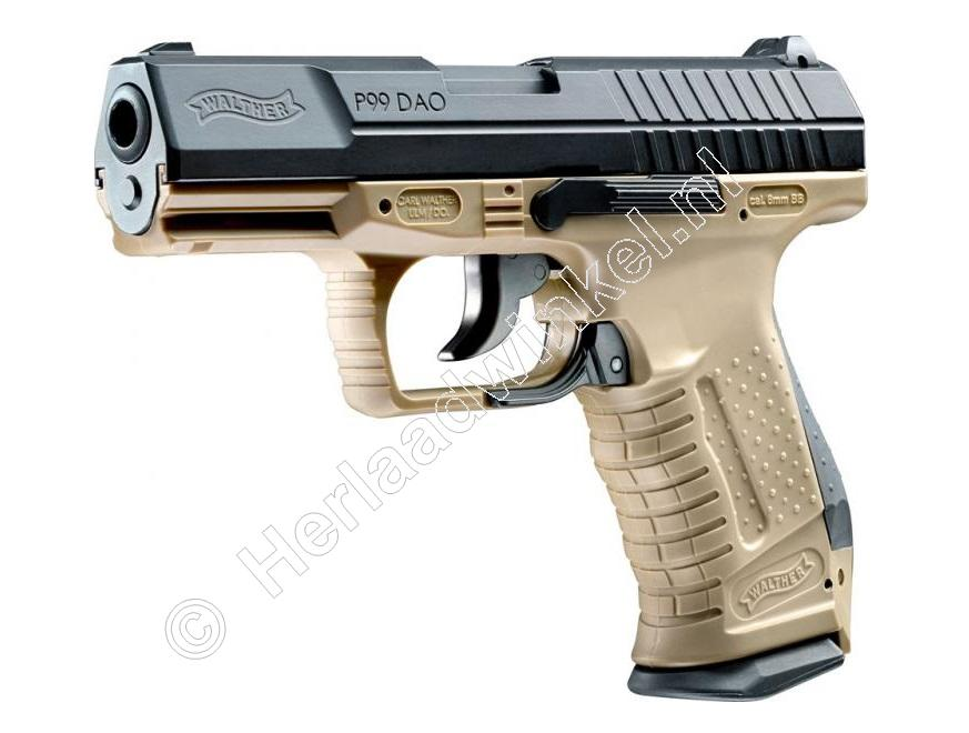 Walther P99 DAO Airsoft Pistool 6mm BB Co2, RAL 8000